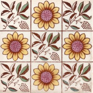 Arts and Crafts Sunflower 9 square design 2 multi colour
