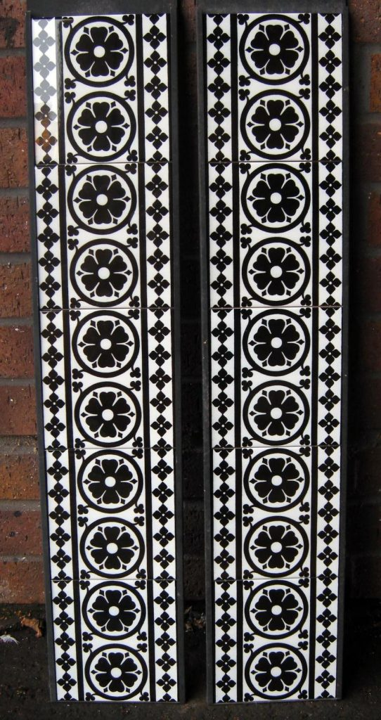 Gothic Pugin Fireplace Tiles Set 001 Black