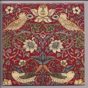 William Morris Strawberry Thief Red