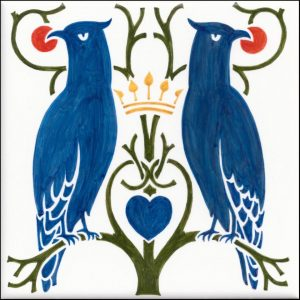 Voysey  Love Birds tile