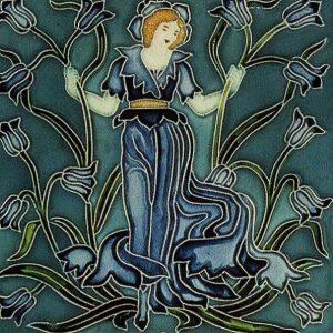 Walter Crane Flora'sTrain tile Bluebell