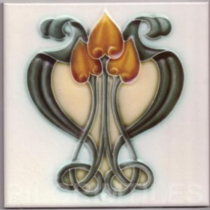 Art Nouveau stylized Tiles  ref An104