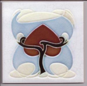 Delicate Arts & Crafts / Art Nouveau Style Tile ref 017