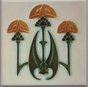 Art Nouveau Gothic Style Tiles ref 038