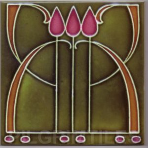 Art Nouveau stylised Tiles  ref An44