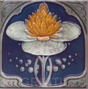 Art Nouveau stylized Tiles  ref An51