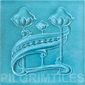 Art Nouveau stylized Tiles  ref An58