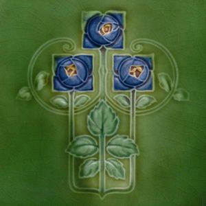 Art Nouveau stylized Tiles  ref An61