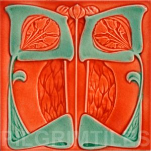 Art Nouveau stylized Tiles  ref An71