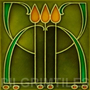 Art Nouveau stylized Tiles  ref An72