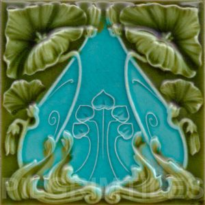 Art Nouveau stylized Tiles  ref An77