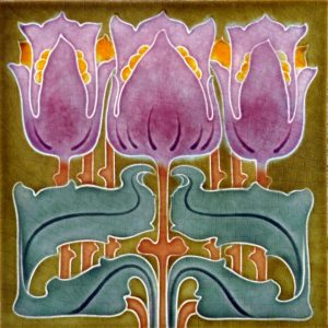 Art Nouveau stylized Tiles  ref An94