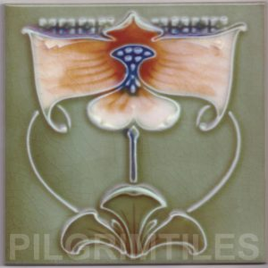 Art Nouveau stylized Tiles  ref An96