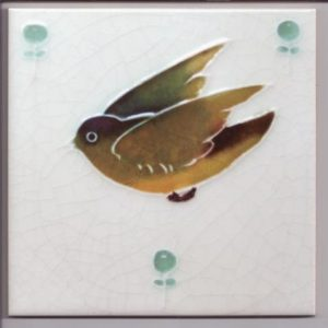Art Nouveau Bird design tiles