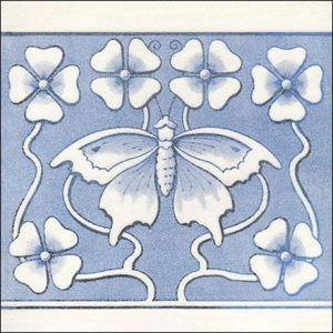 Art Nouveau Butterfly Tile