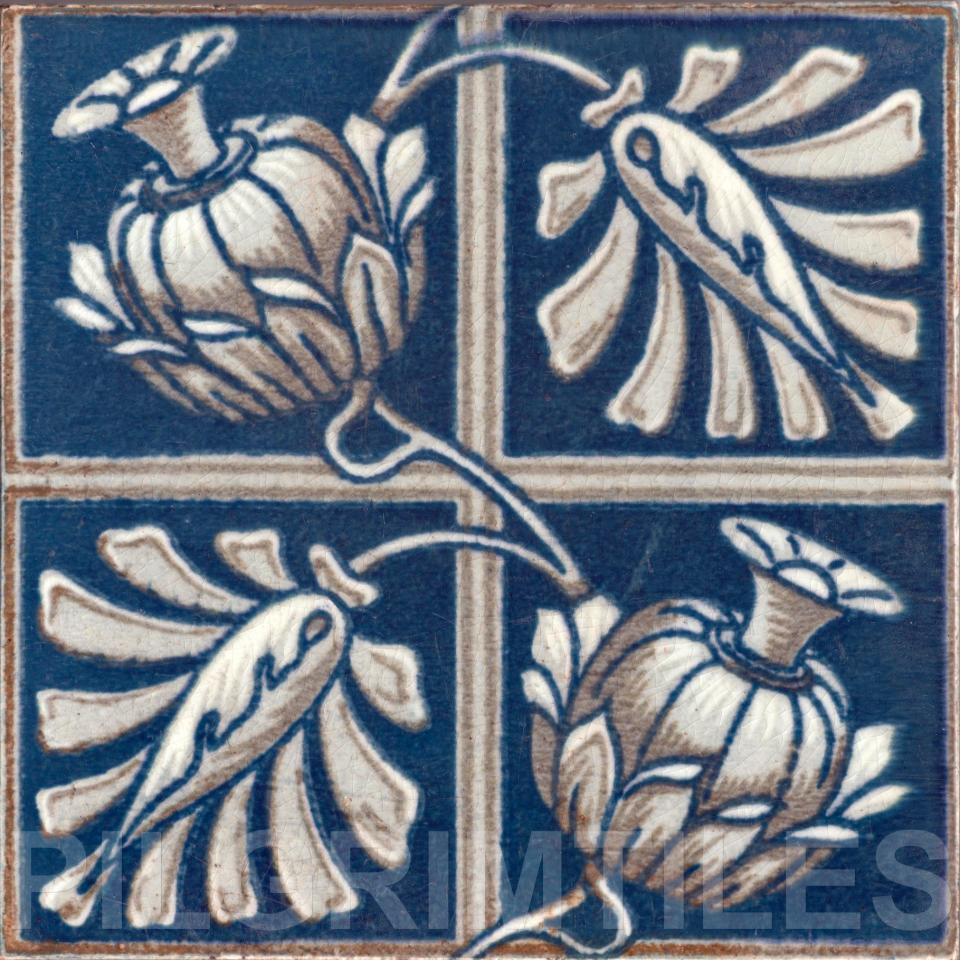 Metric Porcelain Tile Victorian Bird Wall Floor Kitchen Bathroom ref 2