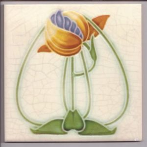 Art Nouveau / Arts & Crafts floral tile