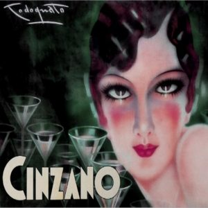 Pin up  style Tiles Cinzano