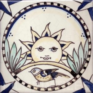 Arts and Crafts Style decorative tile Cosmos 2