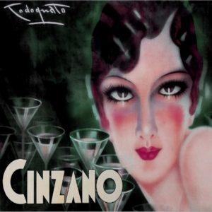 Art Deco Style  Tile Cinzano