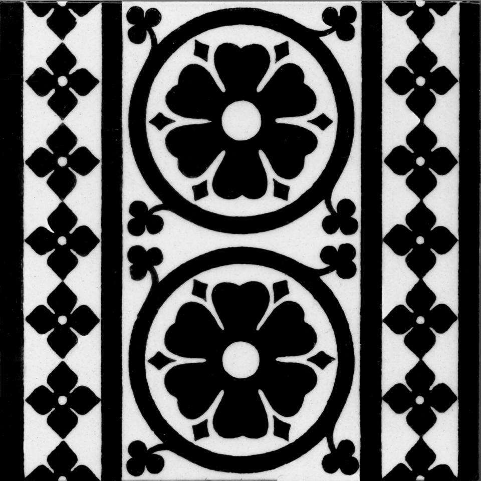 Gothic Style tile ref  01 black