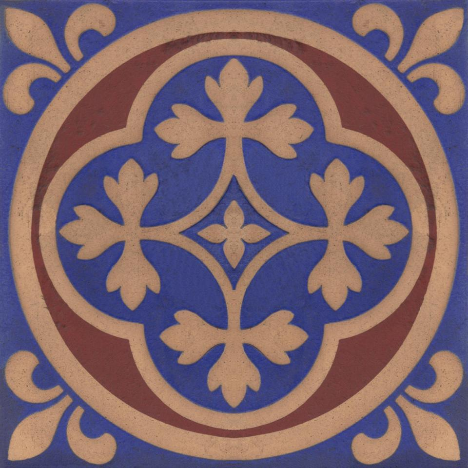 Gothic Pugin Fireplace Tiles Set 009