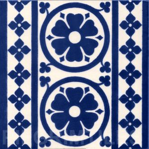 Gothic Style tile ref  01 blue