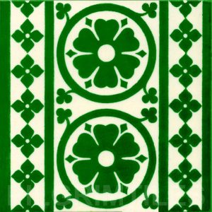 Gothic Style tile ref  01 green