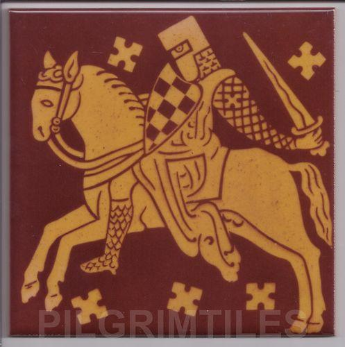 Gothic Style Medieval Knight Tile Brown