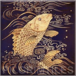 Japanese style decorative tile Carp Fish