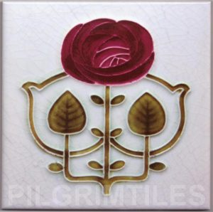 Mackintosh Rose Art Nouveau / Arts & Crafts Tile mac 10