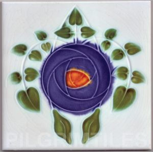 Mackintosh Rose Art Nouveau / Arts & Crafts Tile mac 9