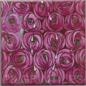Mackintosh Rose Tear Art Nouveau / Arts & Crafts Tile