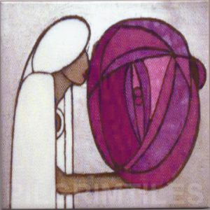 Mackintosh Rose Lady Detail Art Nouveau / Arts & Crafts Tile