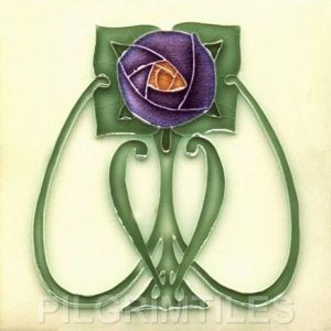 Mackintosh Purple Rose Art Nouveau / Arts & Crafts Tile mac 5