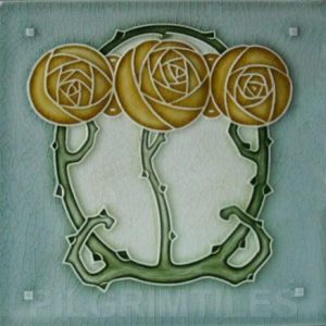 Mackintosh Rose Art Nouveau / Arts & Crafts Tile mac 3