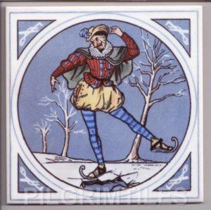 Minton style  Tile  Skater