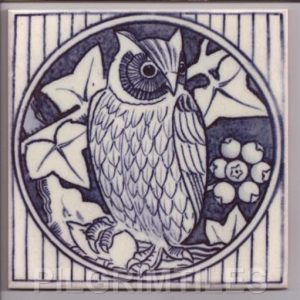 Aesthetic Movement tile  - Blue Owl