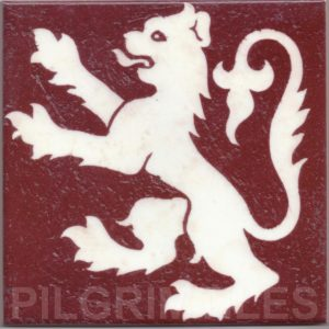Gothic Style rampant Lion tile ref 01