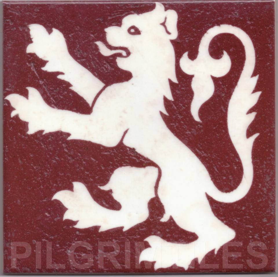 Gothic Style rampant Lion tile ref 01