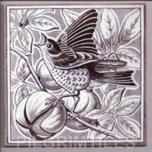 Victorian Style Bird Sepia 08