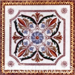 Victorian Floral Style Tile ref 02