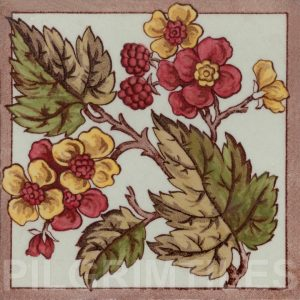 Victorian Floral Style Tile ref 03