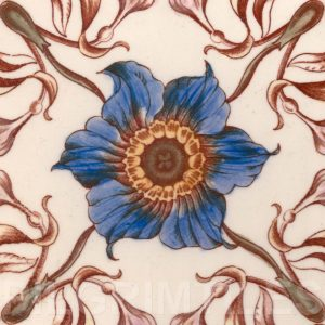 Victorian Floral Style Tile ref 04
