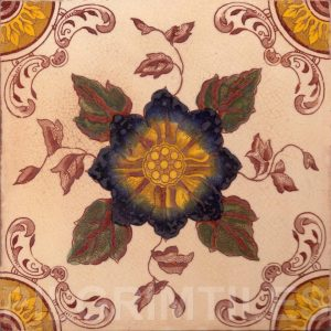 Victorian Floral Style Tile ref 05