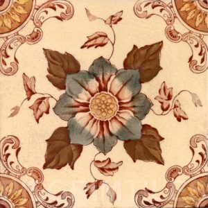 Victorian Floral Style Tile ref 06