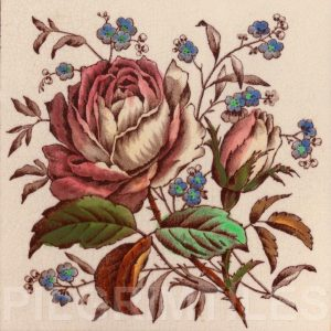 Victorian Floral Style Tile ref 07