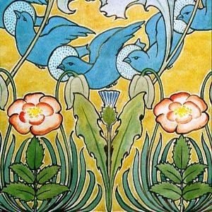 Voysey  Blue Birds tile