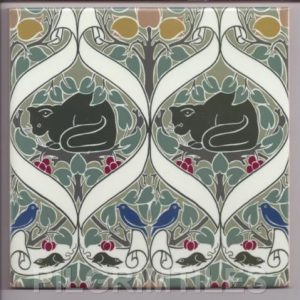 Voysey Cats Tile