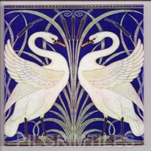 Walter Crane Swans Blue